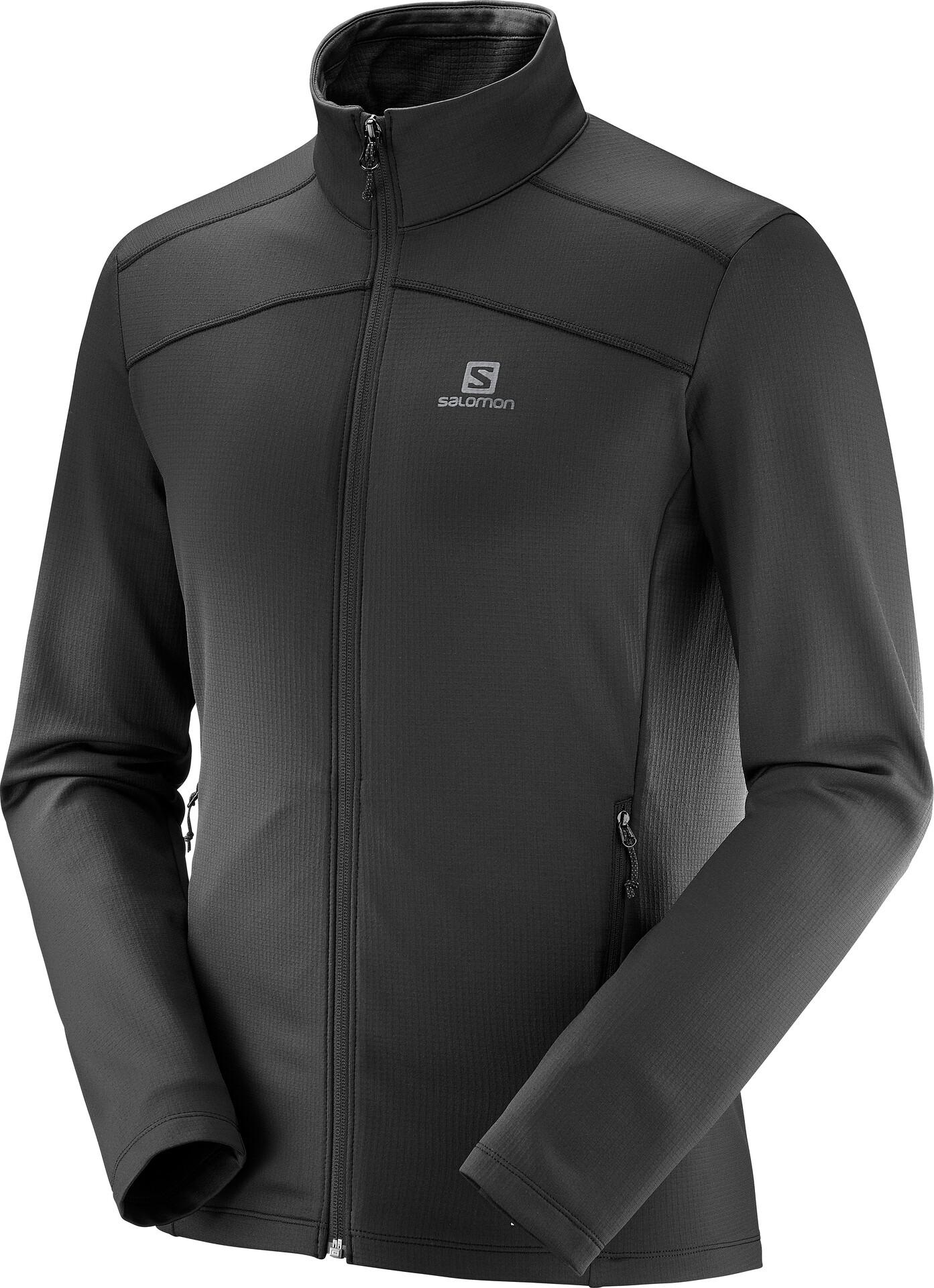 Salomon Discovery LT FZ Jacket Herren black